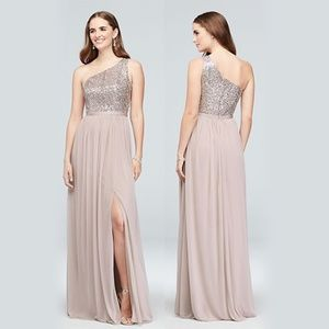 NWT David's Bridal Platinum Bridesmaid Dress sz 10